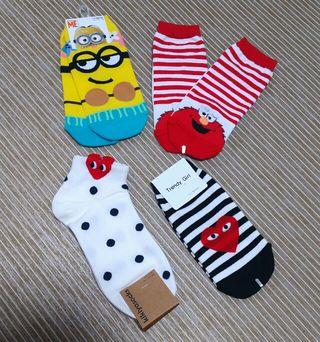 キャラクター靴下4足セット
