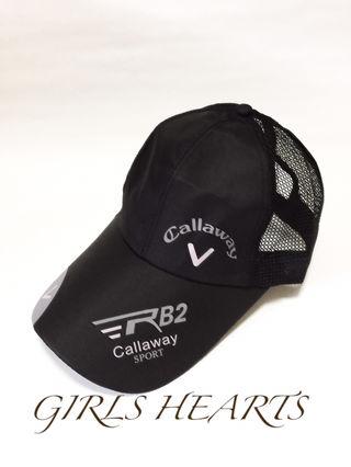 つば広浅めの帽子キャップ黒ブラック普段用ゴルフ野球サッカーに