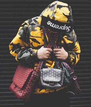 Sup人気新作 ファッションの黄色迷彩 男女兼用