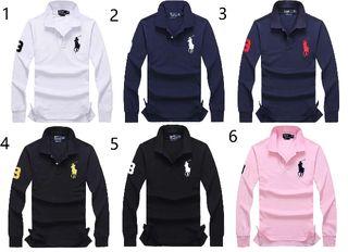 新品POLOポロ ラルフローレン/Tシャツ男性用長袖12色
