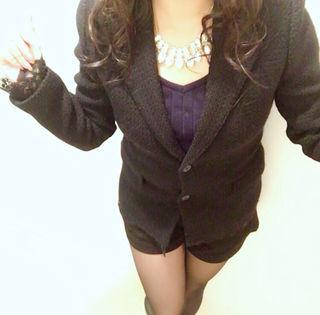 インタープラネット 袖 裾レース付きジャケット