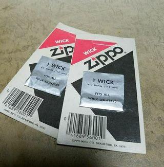 新品未使用品Zippo純正WICK替芯2枚セット送料無料