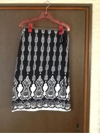シュカ 綿麻巻きスカート