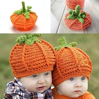 ハロウィン ベビー ニット帽 パンプキン コスプレ かわいい