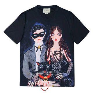 グッチGUC Tシャツカップル 半袖カットソー