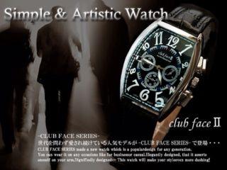 送料無料メンズ革ベルト時計