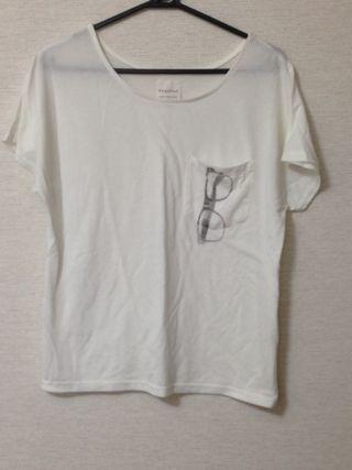 a.g.plus メガネプリントTシャツ