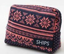 シップス(SHIPS)あったかニットポーチ新品未使用