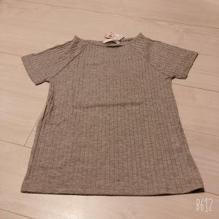 トップス Tシャツ リブ 半袖 グレー シンプル 新品未使用