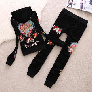 Ed HARDYレディースパーカー長袖セット刺繍ファッション