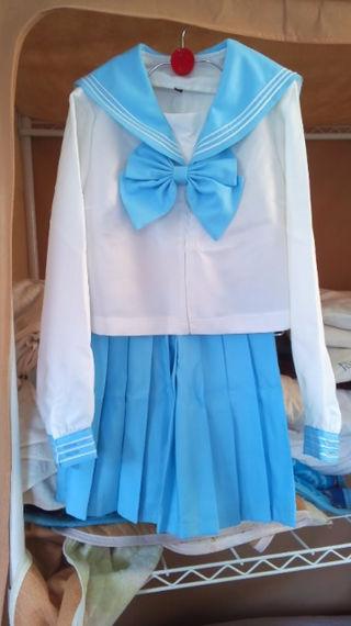 【水色】セーラー服【カラセ】