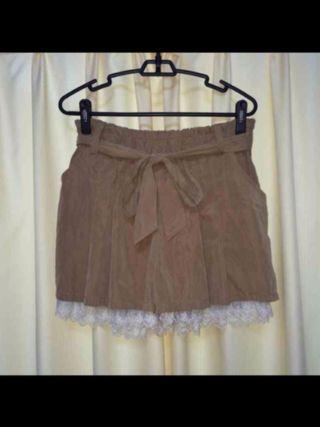 リボン付きキュロットスカート