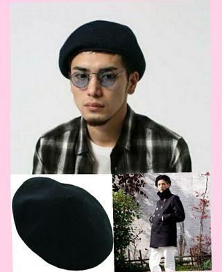 メンズにも大人気今年の秋冬トレンドベレー帽 ブラック