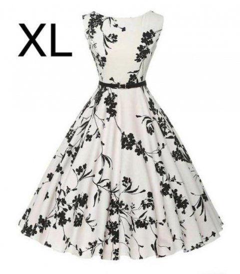 新品ベルト付き花柄綺麗ワンピース ホワイト XL - フリマアプリ&サイトShoppies[ショッピーズ]