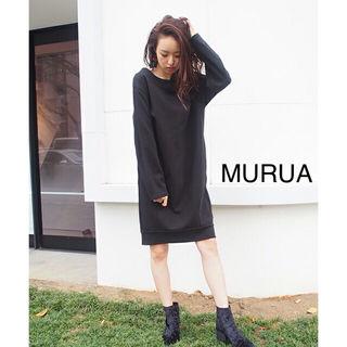 新品タグ付き★MURUA Backゴムコクーンワンピース