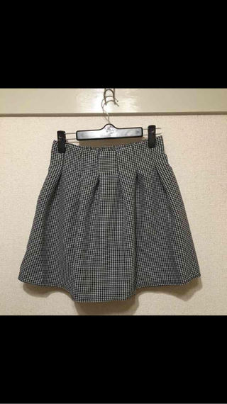 tricolour スカート チェック ブラック Aライン