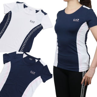 EA7 TENNIS Tシャツ ネイビー系 S レディース