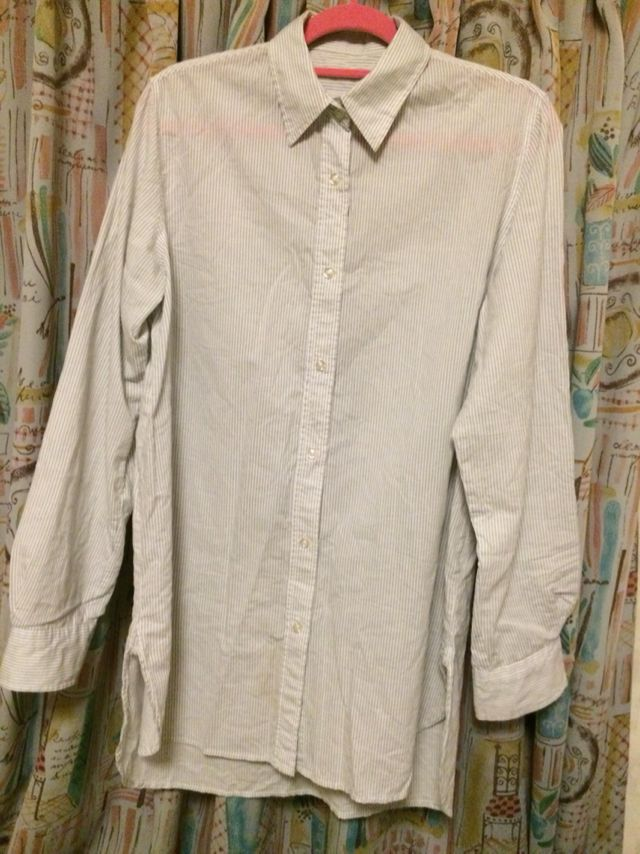 ロングシャツ/ストライプ