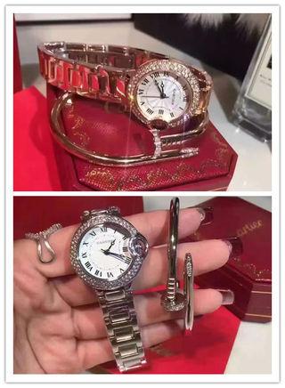 2点セットCartier腕時計 釘ブレス3色展開