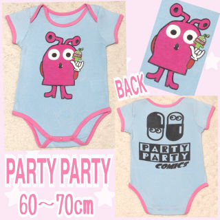 【PARTY PARTY/60~70】キャラクターロンパース