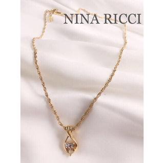 NINA RICCIニナリッチビジューロゴ入りネックレス