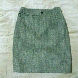 INEDツイード膝丈スカート