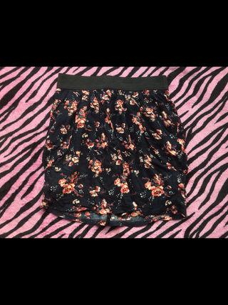 コルザ花柄ミニスカート