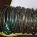 a92 インド製ガラスブレスレッド30本