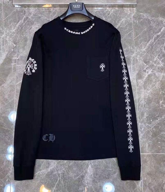 サイズ指定可M-XL 黒ク口ムハーツ ロング Tシャツ