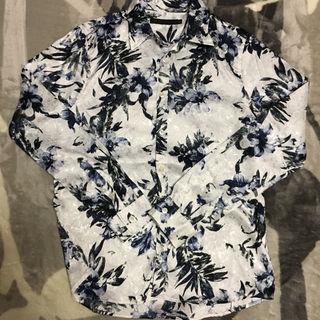 花柄ジャガードシャツ