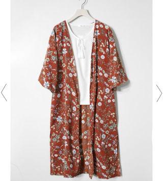 花柄ガウン(Tシャツ付き)