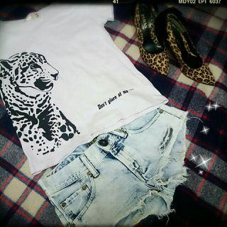 PAGEBOY豹プリントTシャツ