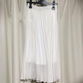 ローリーズファームプリーツスカート白