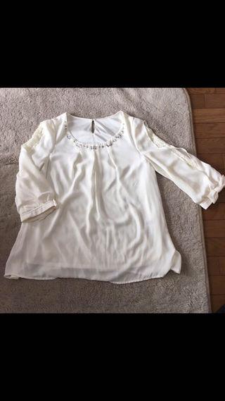 INGNI 装飾付袖裾リボントップス