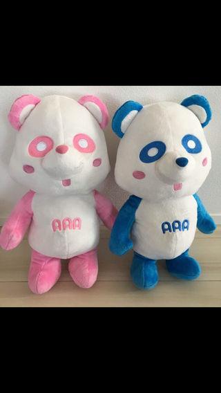 新品  AAA えーパンダ BIG ぬいぐるみ ピンク 青