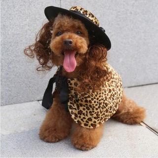 犬服ワンピのドレス&帽子セットSサイズPF31
