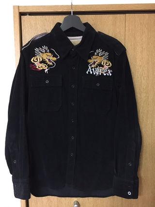 AVIREX 和柄刺繍ワークシャツ