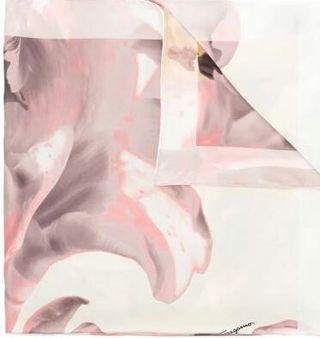 フェラガモ スカーフ ピンク 花柄