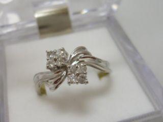 大きいサイズ 0.25ct Pt900 ダイヤモンドリング