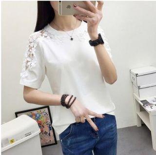 XL シフォンシャツ ブラウス 体型カバー 無地 半袖