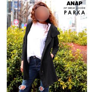 新品未使用 ANAP パーカー BK 売り切り