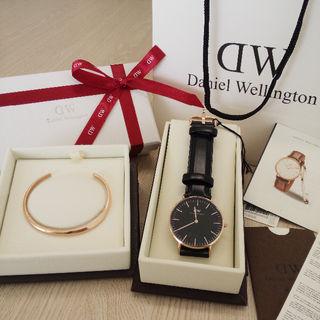 SHEFFIELD 40MM 腕時計とLサイズバングルセット