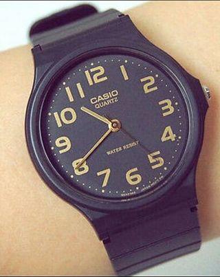 カシオ 腕時計 アナログ 時計 黒 チープカシオ チプカシ