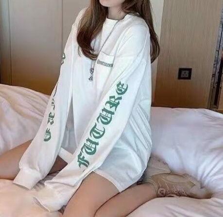 サイズ指定可M-XL ク口ムハーツ ロング Tシャツ