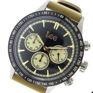 リー LEE クオーツ メンズ ウォッチ 時計 ブラック