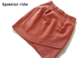ウール100% タイトミニスカート サイズ0 茶オレンジ
