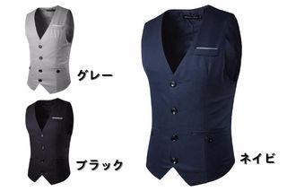 メンズ フォーマル ベスト ビジネス スーツに似合う5019