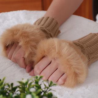 ★超人気★ あたたかくて かわいい ファー 手袋