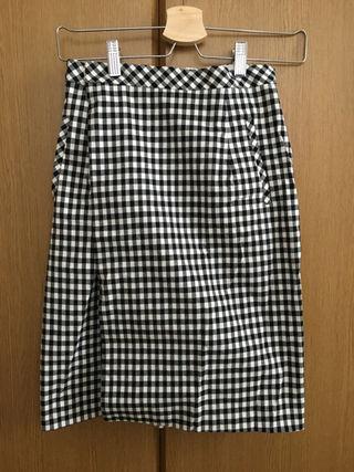 ギンガムチェック巻きスカート