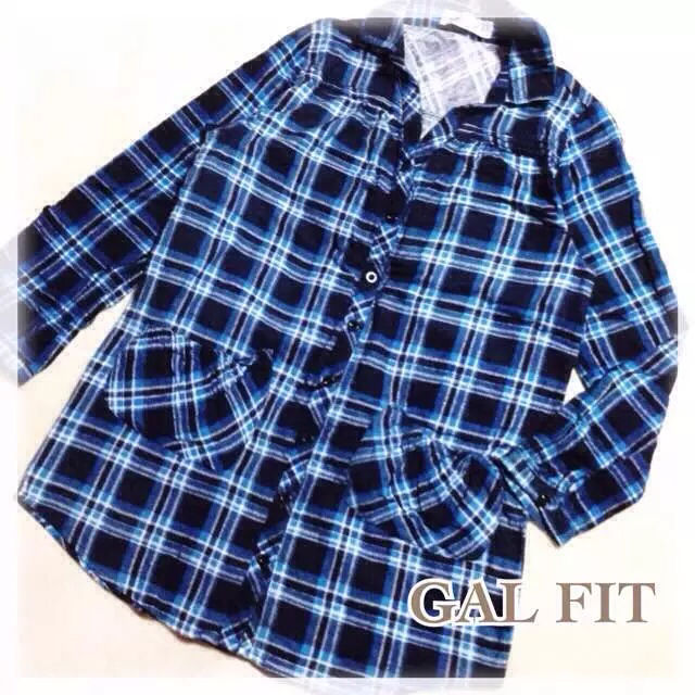 GAL FIT チェックシャツ